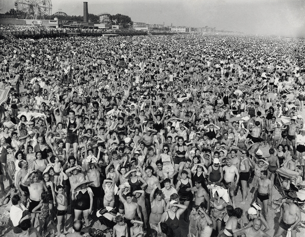 Crowd at Coney Island, 1940.