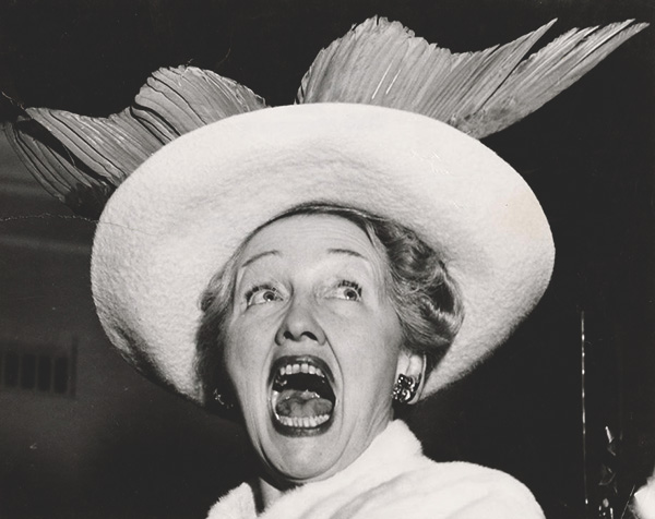 """Hopper's Topper,"" Hedda Hopper, Hollywood, ca. 1948"